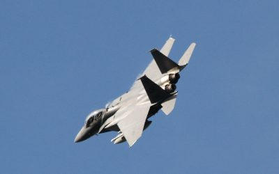 F-15E 'Eagle' Banking hard left