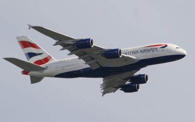 British Airways A380 G-XLEE