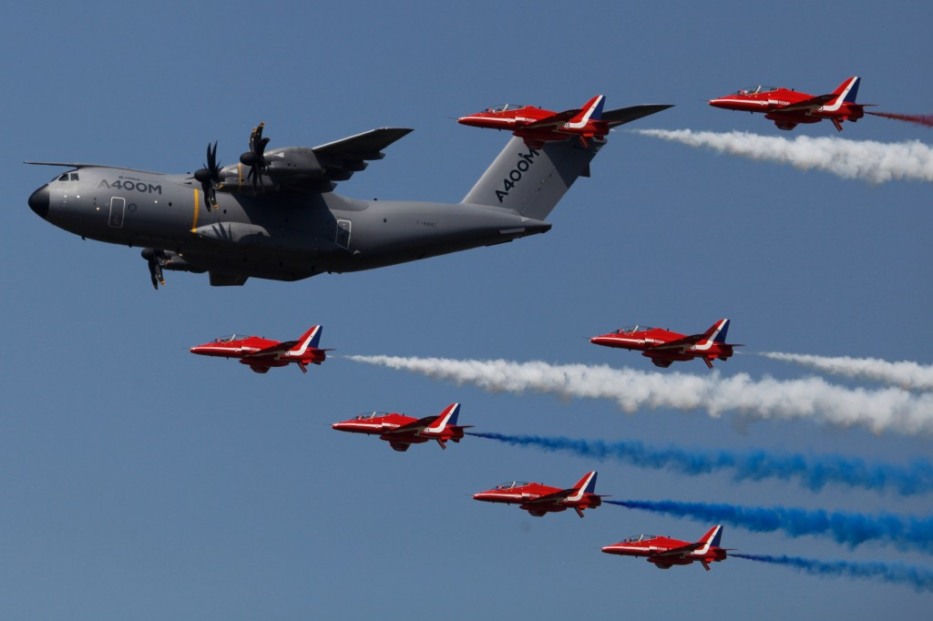 A400 and Red Arrows